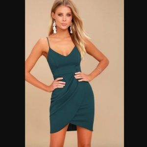 Lulu's Forever Your Girl Teal Blue Bodycon Dress